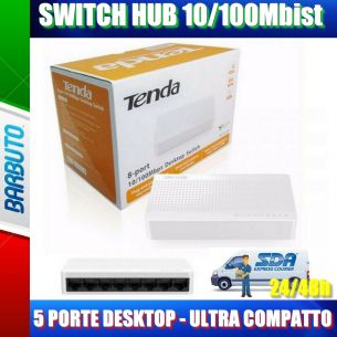 SWITCH 10/100Mbist 8 PORTE DESKTOP - ULTRA COMPATTO