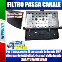 Filtro per il passaggio di un canale in banda UHF, attenuando tutti gli altri canali della banda (TARATURA INCLUSA)