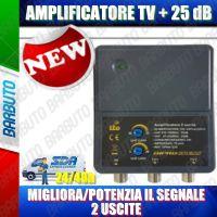 AMPLIFICATORE DI LINEA TV UHF 25db 2out MIGLIORA/POTENZIA IL SEGNALE TV DPHA1225