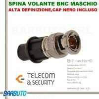SPINA VOLANTE BNC MASCHIO CON SISTEMA CAP, ART. KBMHD TELECOM E SECURITY