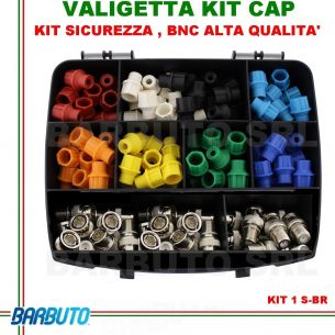 CAP SYSTEM IN VALIGETTA CON 24 CaP colorati, 24 connettori BNC maschio HD