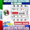 AMPLIFICATORE DI LINEA A 4 VIE 20dB PER SEGNALI SAT SERIE COMPACT MATRIX 80294A