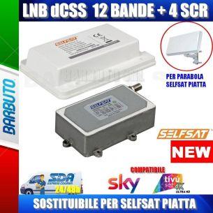 LNB/CONVERTITORE dCSS / SCR 16 USCITE PER ANTENNA PARABOLA SELFSAT PIATTA H21D4 E H21D2