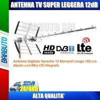 ANTENNA UHF YAGI LTE 12 ELEMENTI 12dB SUPER LEGGERA METRONIC