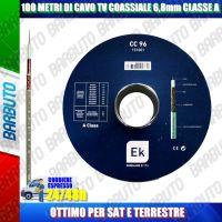 100 METRI DI CAVO TV COASSIALE 6,8mm CLASSE A OTTIMO PER SAT E TERRESTRE