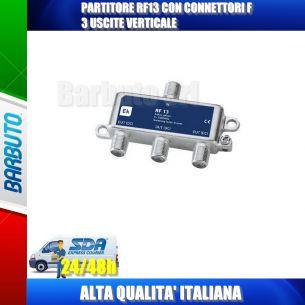 PARTITORE RF13 CON CONNETTORI F 3 USCITE VERTICALE