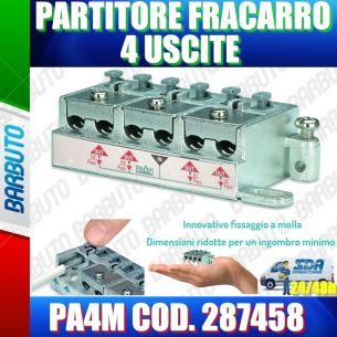 PARTITORE 4 USCITE A MORSETTI E MOLLA SAT E TERRESTRE FRACARRO PA4M COD. 287458