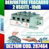 DERIVATORE 2 USCITE -10 dB A MORSETTI E MOLLA FRACARRO DE210M COD. 287464