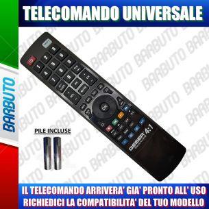TELECOMANDO UNIVERSALE PER TV, DECODER, VCR, HI-FI - COMUNICACI IL TUO MODELLO