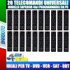 TELECOMANDI UNIVERSALI SUPERIOR 4in1 PROGRAMMABILI TRAMITE PC, 20 PEZZI