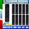 10 TELECOMANDI UNIVERSALI SUPERIOR 4in1 PROGRAMMABILI TRAMITE PC, 10 PEZZI