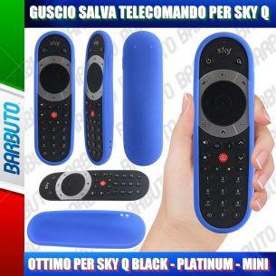 GUSCIO SALVA TELECOMANDO IN SILICONE ATOSSICO PER SKY Q BLACK - PLATINUM - MINI - BLU