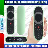 GUSCIO SALVA TELECOMANDO IN SILICONE ATOSSICO PER SKY Q BLACK - PLATINUM - MINI - VERDE