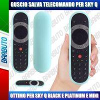 GUSCIO SALVA TELECOMANDO IN SILICONE ATOSSICO PER SKY Q BLACK - PLATINUM - MINI - CELESTE