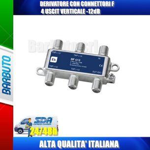 DERIVATORE CON CONNETTORI F 4 USCITE VERTICALE -12dB EK DF412