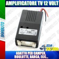 KIT AMPLIFICATORE TV A 12 VOLT, IDEALE PER CAMPER, ROULOTTE, BARCA, CAMION, ECC