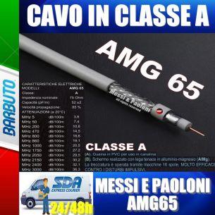 25 METRI DI CAVO TV E SAT AMG65 Messi E Paoloni Diametro 6,5mm RG6, CLASSE A