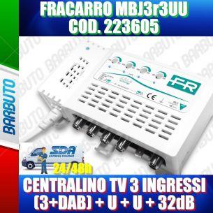 FRACARRO 223605 MBJ EVO LTE CENTRALINO TV 3+DAB,U,U 32dB MODELLO MBJ3r3UU