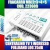 FRACARRO 223609 MBJ EVO LTE CENTRALINO TV 1 INGRESSO LOG 25dB MODELLO MBJ2r3+4+5