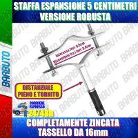 STAFFA CON TASSELLO METALLICO AD ESPANSIONE DISTANZIATA DAL MURO 5 CM LEGGERA