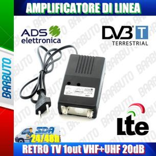 AMPLIFICATORE DI LINEA 1 OUT 20dB