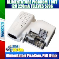 ALIMENTATORE PICOKOM 1IN - 1 OUT 12V 220mA TELEVES 5796