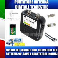 PUNTATORE MISURATORE DI CAMPO ANTENNA DIGITALE TERRESTRE FINDER DVB-T DIGISAT 450015