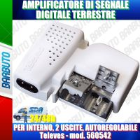 Amplificatore di segnale digitale terrestre da interno, 2 uscite, AUTOREGOLABILE, Televes - mod. 560542