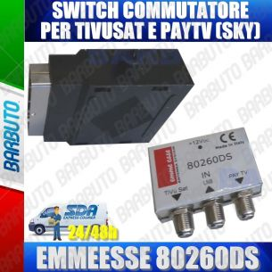 SWITCH COMMUTATORE PER COLLEGARE TIVUSAT E SKY COD.80260DS EMMESSE