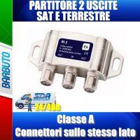 PARTITORE CON CONNETTORI F 2 USCITE A PETTINE OTTIMO PER LNB SCR O DCSS