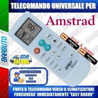 TELECOMANDO UNIVERSALE PER CLIMATIZZATORI AMSTRAD (BATTERIE INCLUSE)