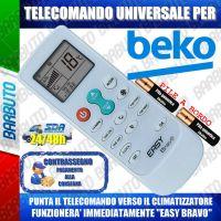 TELECOMANDO UNIVERSALE PER CLIMATIZZATORI BEKO (BATTERIE INCLUSE)