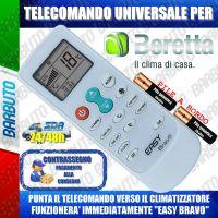TELECOMANDO UNIVERSALE PER CLIMATIZZATORI BERETTA (BATTERIE INCLUSE)