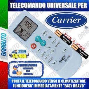 TELECOMANDO UNIVERSALE PER CLIMATIZZATORI CARRIER (BATTERIE INCLUSE)