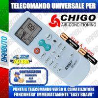 TELECOMANDO UNIVERSALE PER CLIMATIZZATORI CHIGO (BATTERIE INCLUSE)