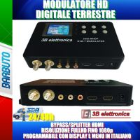 MODULATORE DIGITALE TERRESTRE FULL HD DVB-T FINO A 1080p Ingresso LOOP HDMI