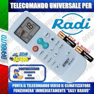 TELECOMANDO UNIVERSALE PER CLIMATIZZATORI RADI (BATTERIE INCLUSE)