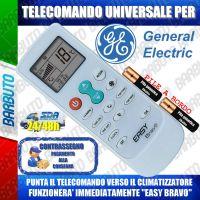 TELECOMANDO UNIVERSALE PER CLIMATIZZATORI GENERAL ELECTRIC (BATTERIE INCLUSE)