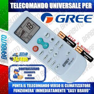 TELECOMANDO UNIVERSALE PER CLIMATIZZATORI GREE (BATTERIE INCLUSE)