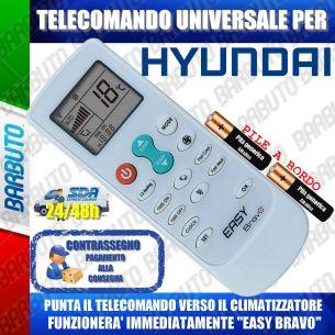 TELECOMANDO UNIVERSALE PER CLIMATIZZATORI HYUNDAI (BATTERIE INCLUSE)
