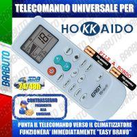 TELECOMANDO UNIVERSALE PER CLIMATIZZATORI HOKKAIDO (BATTERIE INCLUSE)