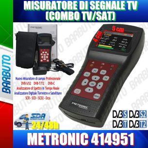 MISURATORE DI CAMPO COMBO DVB-T/T2 DVB-S/S2 ANALIZZATORE DI SPETTRO ANALISI HD E DCSS METRONIC