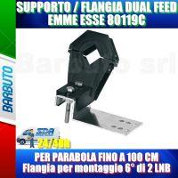 SUPPORTO DUAL FEED 80119C PER PARABOLE DA 60-80-100CM CON ATTACCO RETTANGOLARE