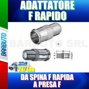 ADATTATORE DA SPINA F RAPIDA A PRESA F PER CONNESSIONE RAPIDA F SATELLITARE