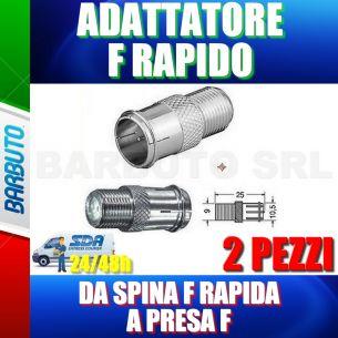 2 PZ ADATTATORE DA SPINA F RAPIDA A PRESA F PER CONNESSIONE RAPIDA F SATELLITARE