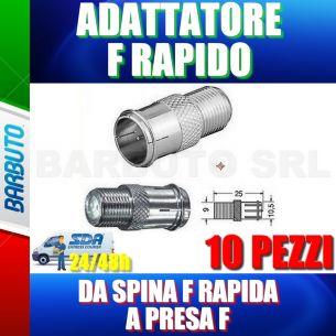 10 PZ ADATTATORE DA SPINA F RAPIDA A PRESA F PER CONNESSIONE RAPIDA F SATELLITARE