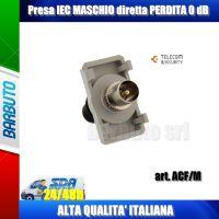 PRESA IEC MASCHIO DIRETTA PERDITA 0 dB, ADATTATORE PER FRONTALINO