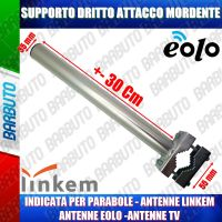 SUPPORTO PASSAMANO DRITTO MINI 30 CM PER LINKEM - EOLO - SAT + ATTACCO MORDENTE LK35/D/RIN