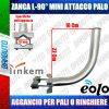 SUPPORTO CURVO 90° AD L MINI ATTACCO A PALO O RINGHIERA PER LINKEM - EOLO - SAT LK35/RIN
