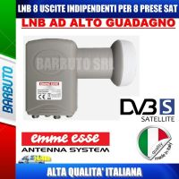 LNB/OCCHIO OTTO USCITE INDIPENDENTI SAT 0,1 dB EMMEESSE LTE EmmeEsse 80198KL